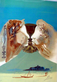 professional art appraisers resources - Chalice of Love lithograph by Salvador Dali